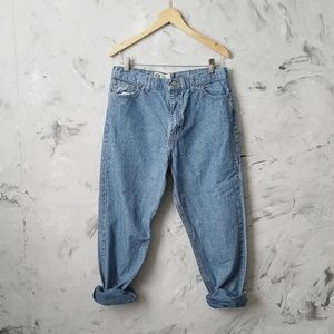 FADED GLORY 80's Vintage Baggy Denim Blue Jeans